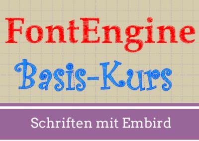 Video-Kurs: Texte & Schriften mit Embird FontEngine